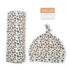Lulujo Bamboo hat and swaddle blanket - Leopard