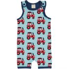 Maxomorra Tractor Shortie Playsuit Dungarees
